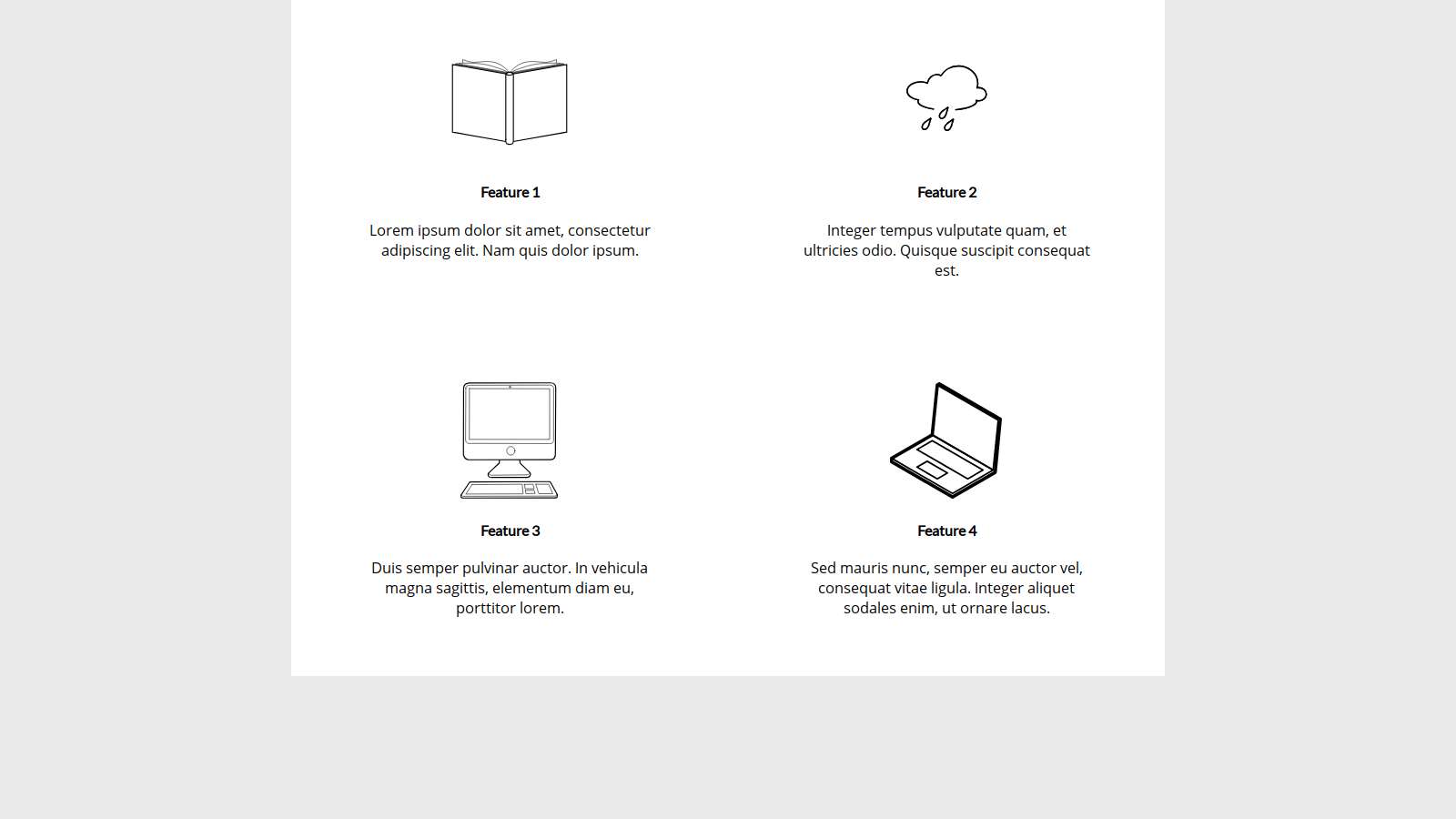 Feature Boxes