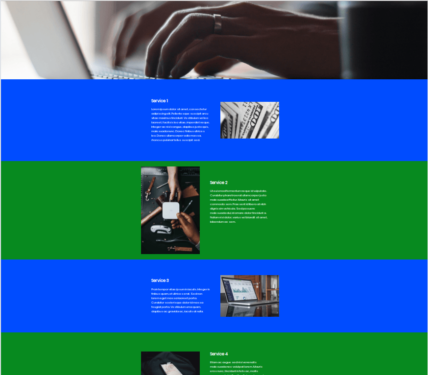 Creating Full Width Sections